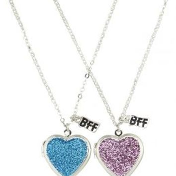 Bff Glitter Locket Necklaces | Girls Jewelry Accessories | Shop Justice