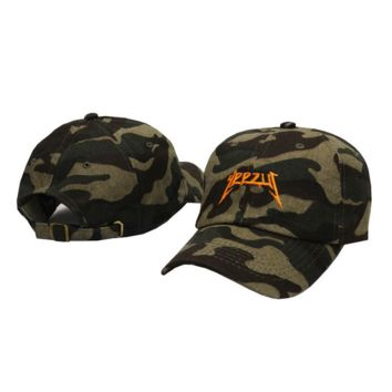 Camo Yeezus Baseball embroidered cap Hat
