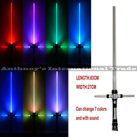 Kylo ren sword Star Wars Lightsaber With Light & Sounds 7 color changing Laser Sword Toys Cosplay Weapons Sabers Kid Boy Gift