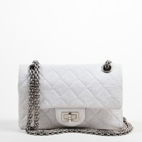 """Chanel White Limited Edition """"New Mini"""" Reissue Flap Bag"""