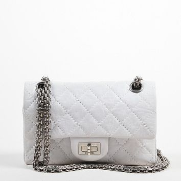 "Chanel White Limited Edition ""New Mini"" Reissue Flap Bag"