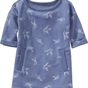 Old Navy Patterned Fleece Dress For Baby