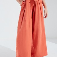 UO Bennie Paperbag Wide-Leg Pant   Urban Outfitters