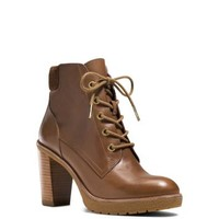 Kim Lace-Up Leather Ankle Boot | Michael Kors