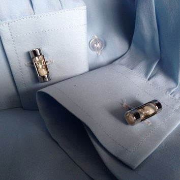 Working Hour Glass Cuff Links Steampunk Accessories Men and Womens Wedding Party Gift