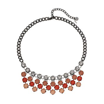 Simply Vera Vera Wang Bib Necklace (Red)