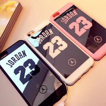 LMFUG7 Mirror Case For iPhone 6 case 6s Plus 5 5s 7 Plus Superman Jordan 23 case Soft Silicon