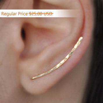 Ear Climbers Earrings x2, Ear Climber, Gold Ear Pins, Climber Earrings, Ear Crawlers, Earrings Pin, Gold Earrings, Earring Pins