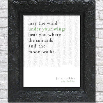 literary art print / book quote // the hobbit; j.r.r. tolkien