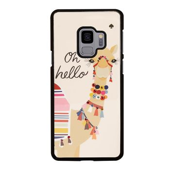 KATE SPADE CAMEL OH HELLO Samsung Galaxy S3 S4 S5 S6 S7 S8 S9 Edge Plus Note 3 4 5 8 Case