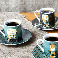 Magpie 'Wildlife by Tom Frost' Espresso set