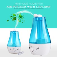 25W Tabletop 3L Water Bottle Mini Home Ultrasonic Humidifier Purifier with LED Lamp Air Freshener Diffuser