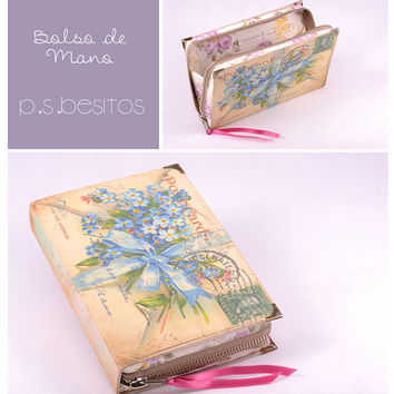 Book Clutch vintage envelope by psBesitos on Etsy