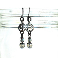 Grey Dusk Earrings by nancelpancel on etsy