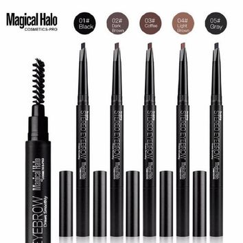 1PC Magical Halo Eyebrow Pencil Waterproof Automatic Eyebrow Pen Long-lasting Makeup Beauty Tools 5 Color Eye Brown High Quality