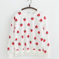 Assorted Kawaii Print Pullover