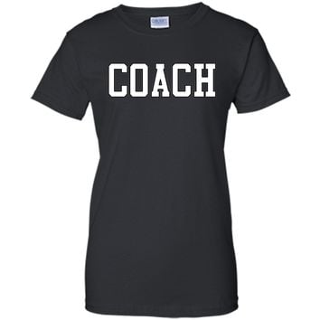 Coach T-Shirt Tee Gift, SoftBall, Football Fun Team Coaching