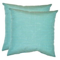 Threshold™ 2-Piece Outdoor Decorative Throw Pillow Set - Blue Textured