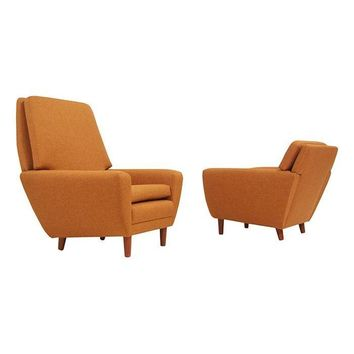 Pre-owned Georg Thams Danish Modern Lounge Chairs - A Pair