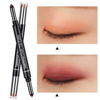 2pcs Double-headed Air Cushion Eyeshadow Pen 0801 Red Wine Color Earth Color Eye Shadow Stick Makeup Palette Cosmetics