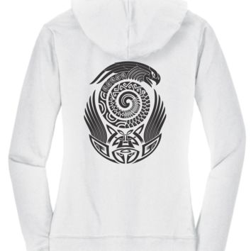 Black & White Hoodie Collection - Native American Eagle Design