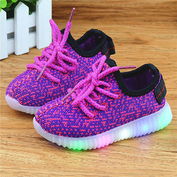 KIDS SHOES Girls Enfant Glowing Sneakers Boys Zapatillas Deportivas Hombre Tenis Infantil Mujer Led Glow Shoe Light Up Luminous