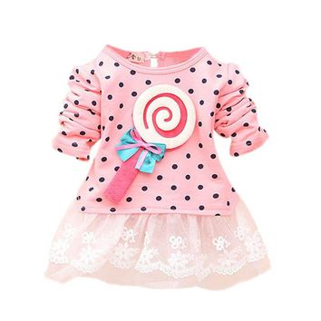 Candy Girl Polka Dot Print Mini Dress