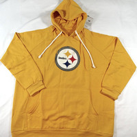 Pittsburgh Steelers Majestic Pullover Hoodie Sweatshirt Women's Plus Sizes
