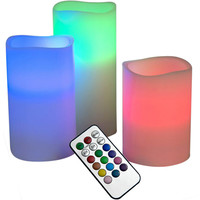 Evelots Remote Controlled Color Changing LED Candle Lights