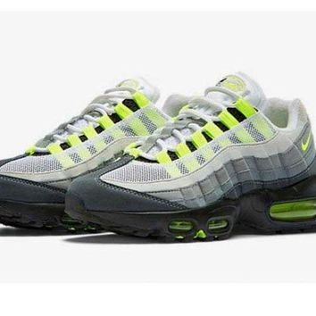 DCCKUN7 Mens Nike Air Max 95 Black Neon Gray White - Ready Stock Online
