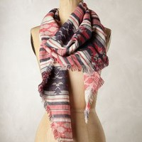 Diamond Valley Scarf by Anthropologie Purple Motif One Size Scarves