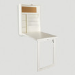 White Alden Foldout Convertible Desk - World Market