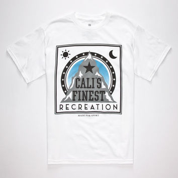 Cali's Finest Made For Sport Mens T-Shirt White  In Sizes