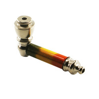 "2 3/4"" Nickel Hand Pipe (Rasta)"