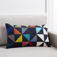 Wallace Sewell Multi Pinwheel Color Block Pillow Cover