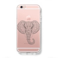 Ethnic Elephant iPhone 6 Case, iPhone 6s Plus Case, Galaxy S6 Edge Clear Hard Case C044