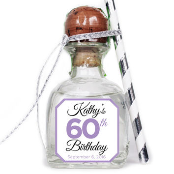 Personalized Celebration - Birthday Patron Mini Bottle Labels