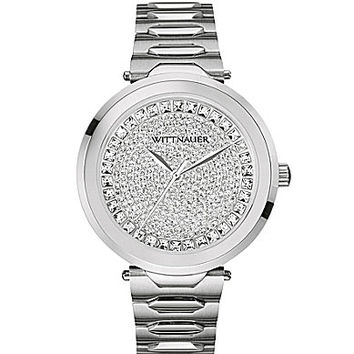 Wittnauer Women's 3-Hand Crystal Pave Dial Watch