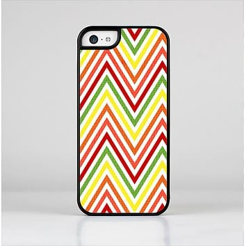The Yellow & Red Vintage Chevron Pattern Skin-Sert for the Apple iPhone 5c Skin-Sert Case