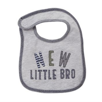 MUD PIE NEW LITTLE BRO BIB
