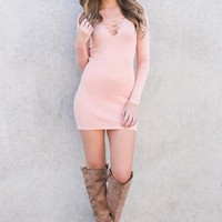 Edaline Bodycon Dress (Blush)