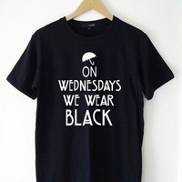American Horror Story Coven On Wednesdays We Wear Shirt Rock Shirt Hip Hop Top P