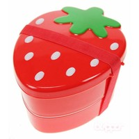 Strawberry bento box (red)