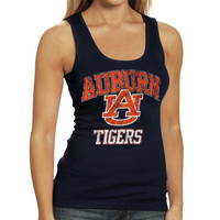 Auburn Tigers Women's Rib Tank Top - Navy Blue