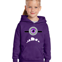 Despicable Me 2 one eyed purple Minion Hoodie available in Purple for Children and Adults