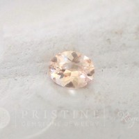 Peach Champagne Sapphire Oval Shape Gemstone for Engagement Ring September Birthstone by Rogerio Graca