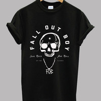 Fall Out Boy FOB Band Logo Black and White Unisex T Shirt - New Shirt - Short Sleeve Tee Shirt - Series 1