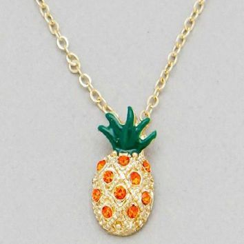 Be A Pineapple Charm Necklace