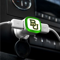 NCAA Baylor Bears Car Charger, White