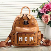 MCM Women Bag Shoulder School Bag Backpac